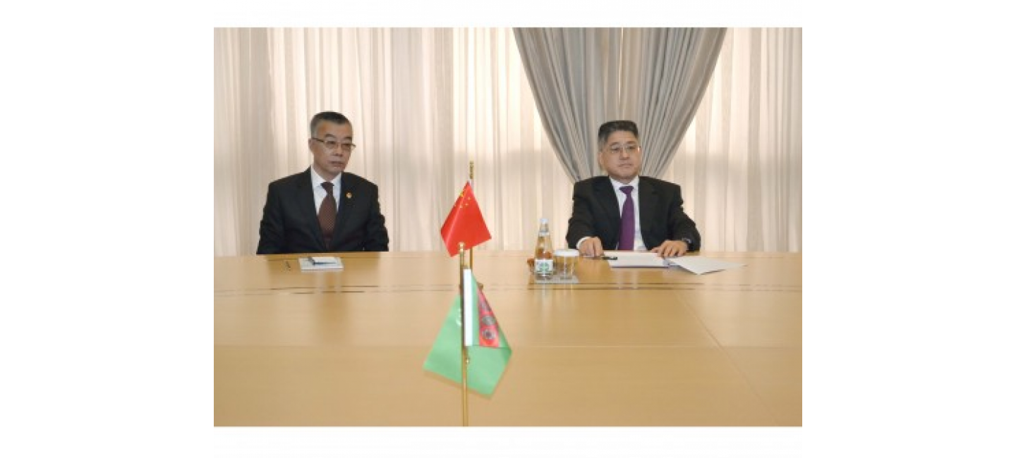 MEETING WITH THE DEPUTY MINISTER OF FOREIGN AFFAIRS OF THE PRC HELD IN THE MFA OF TURKMENISTAN